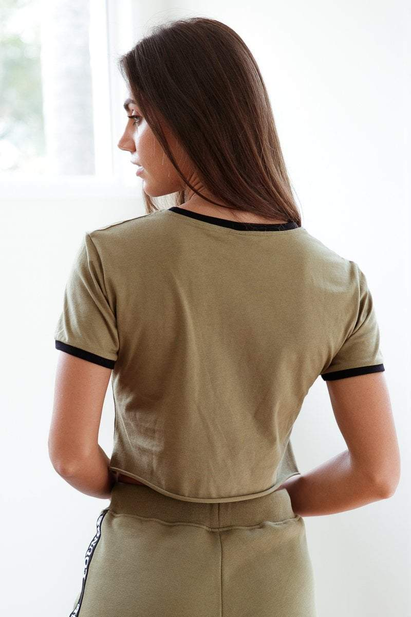 Moss Tshirt | Loungewear | Cropped Tshirt | Lounge Apparel