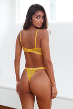 Load image into Gallery viewer, Mustard Blossom Balcony Bra & Thong