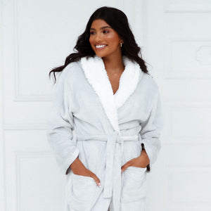 Grey So Soft Luxury Dressing Gown