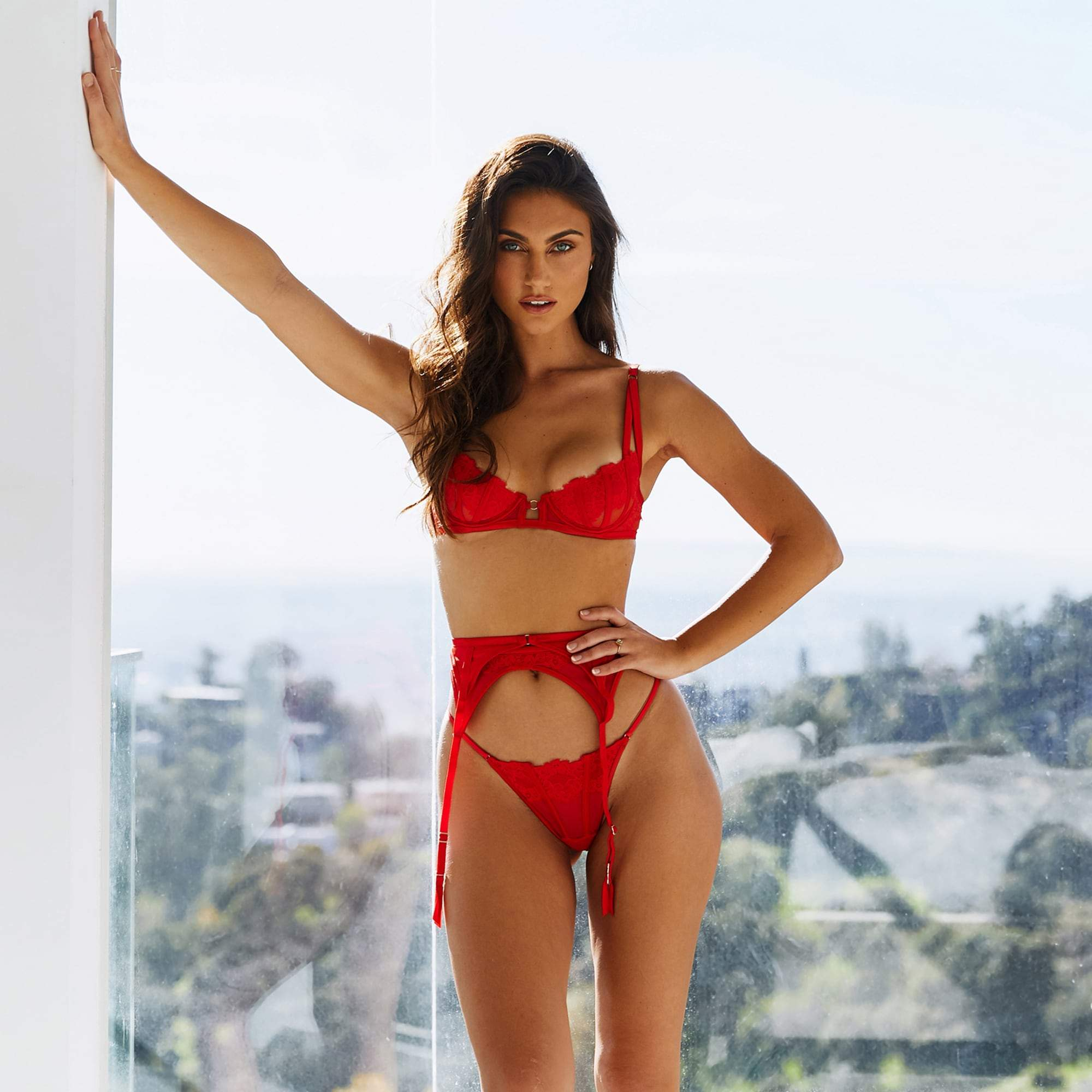 Sierra Red Lace Intimates Set