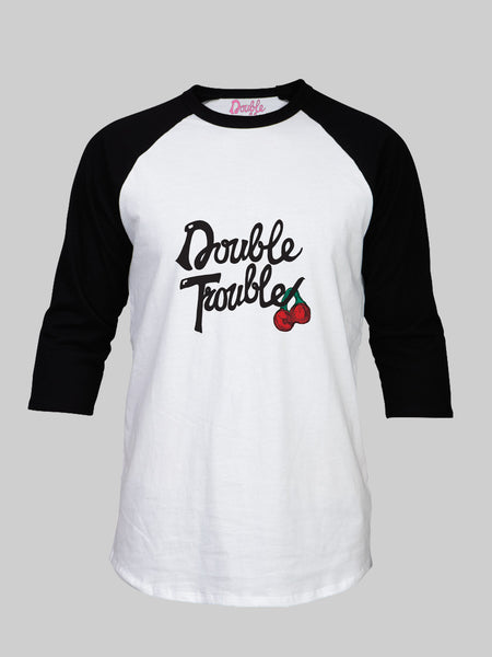 Double Trouble Cherry Baseball T shirt