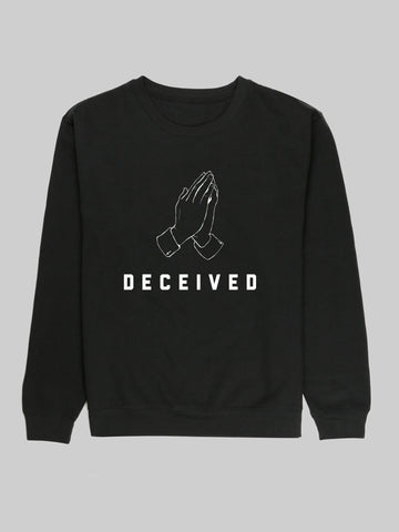 Black Deceived Unisex Sweatshirt