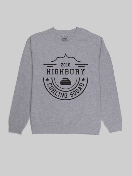 Highbury Curling  Squad Grey Sweatshirt