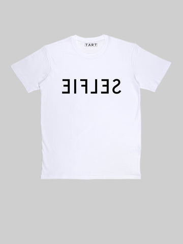 SELFIE Mirror white T shirt