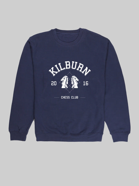 Kilburn Chess Club Navy Sweatshirt