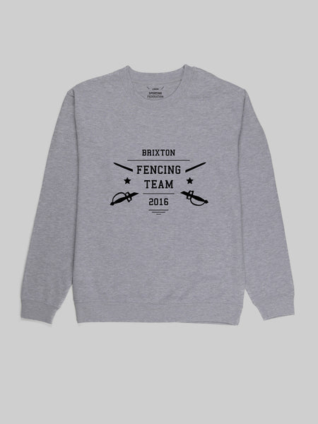 Brixton Fencing Grey Sweatshirt