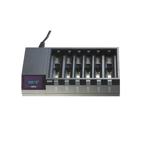 Efest Luc Blu6 LCD Intelligent Charger - Vapourium, Buy Vape NZ, Ecig, Vape Pens, Ejuice/Eliquid, Christchurch, Dunedin