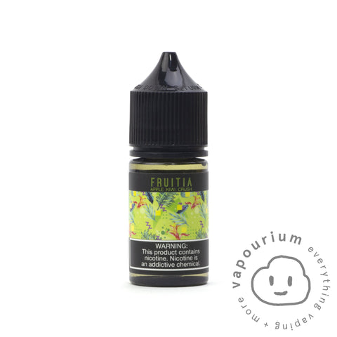 Fruitia Nic Salt - Kiwi Apple Crush - 30ml - Vapourium, Buy Vape NZ, Ecig, Vape Pens, Ejuice/Eliquid, Christchurch, Dunedin