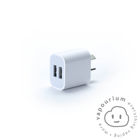 Dual 2A USB Fast Charge Wall Adapter - Vapourium, Buy Vape NZ, Ecig, Vape Pens, Ejuice/Eliquid, Christchurch, Dunedin
