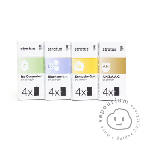 Vapourium Stratus Pods - Kentucky Gold - 4 Pack - Vapourium, Buy Vape NZ, Ecig, Vape Pens, Ejuice/Eliquid, Christchurch, Dunedin, Timaru