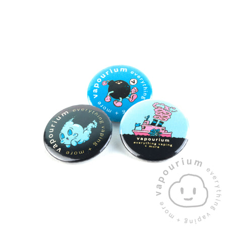 Vapourium Badges - Vapourium, Buy Vape NZ, Ecig, Vape Pens, Ejuice/Eliquid, Christchurch, Dunedin
