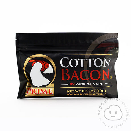 Cotton Bacon Prime by Wick'N'Vape - Vapourium, Buy Vape NZ, Ecig, Vape Pens, Ejuice/Eliquid, Christchurch, Dunedin