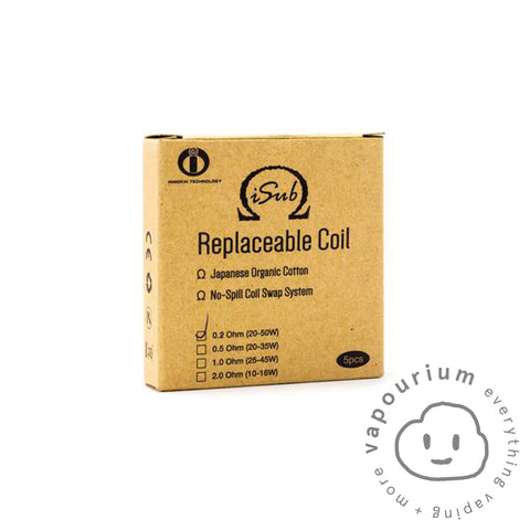 Innokin iSub Replacement Coils - 5 Pack - Vapourium, Buy Vape NZ, Ecig, Vape Pens, Ejuice/Eliquid, Christchurch, Dunedin