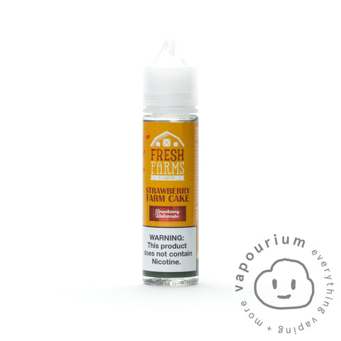Fresh Farms - Strawberry Farm Cake - 60ml - Vapourium, Buy Vape NZ, Ecig, Vape Pens, Ejuice/Eliquid, Christchurch, Dunedin
