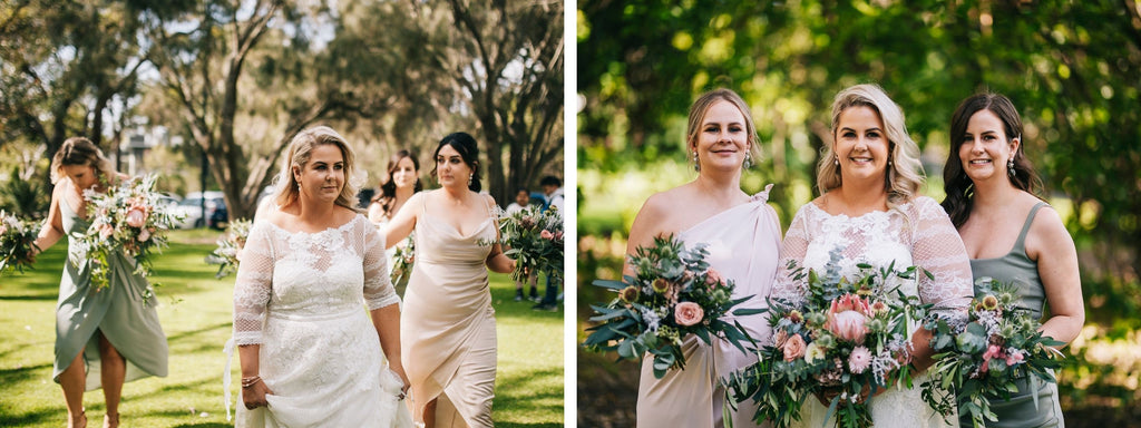 Hannah & her bridesmaids on her wedding day