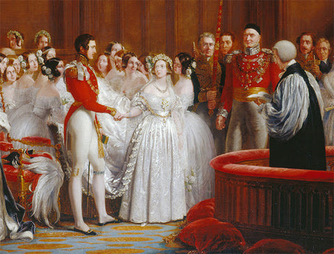 Queen Victoria's marriage to Prince Albert of Saxe-Coburg and Gotha on February 10th, 1840.