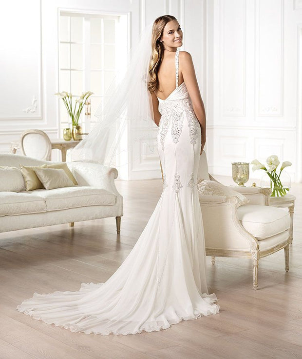 Wedding dress with mermaid skirt
