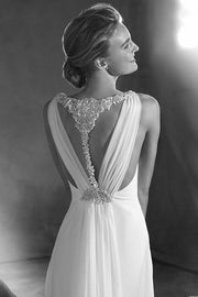 Einara by Pronovias | Silk Chiffon Empire Wedding Dress | Samantha Wynne