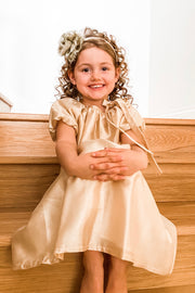 Adeline Gold Flower Girl & Special Occasion Dress | Samantha Wynne