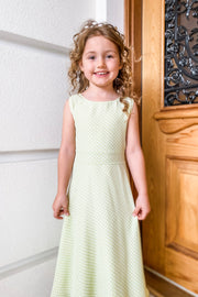 Addison Green Polka Dot Flower Girl & Special Occasion Dress | Samantha Wynne