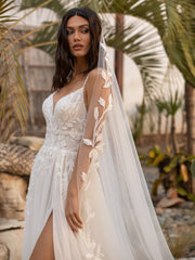 Anderson - Flared wedding dress in embroidered tulle with straps - Arriving soon....