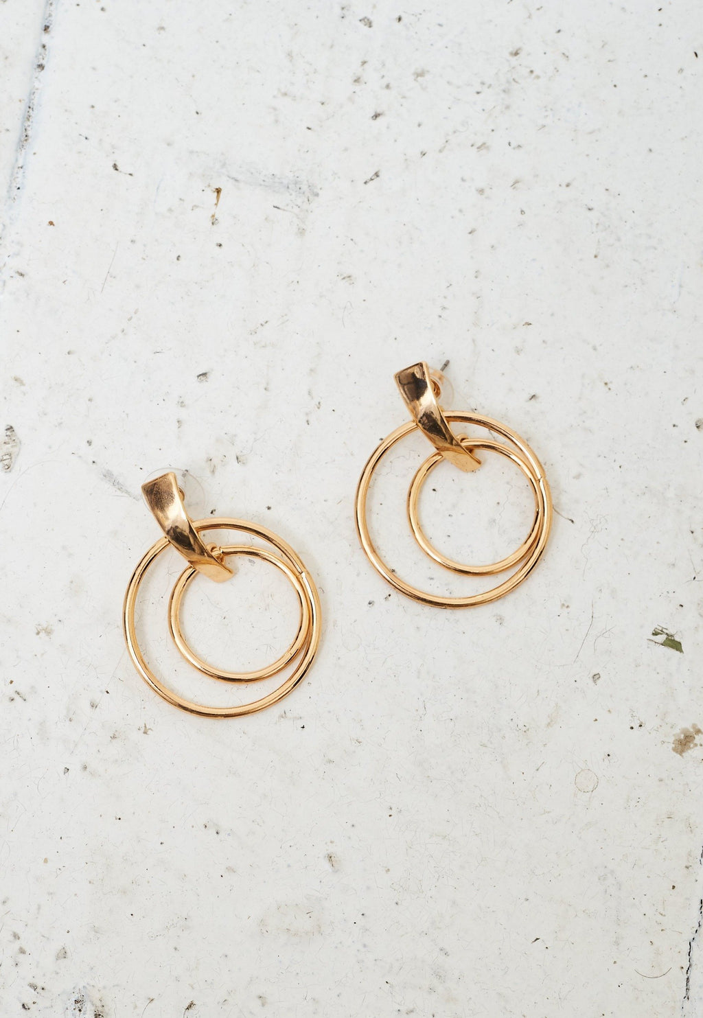 Gold Double Hoop Earrings - love frontrow