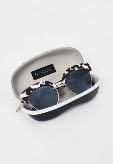 Monochrome Cat Eye Sunglasses - love frontrow