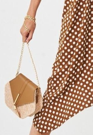 Brown Straw Cross Body Bag - love frontrow
