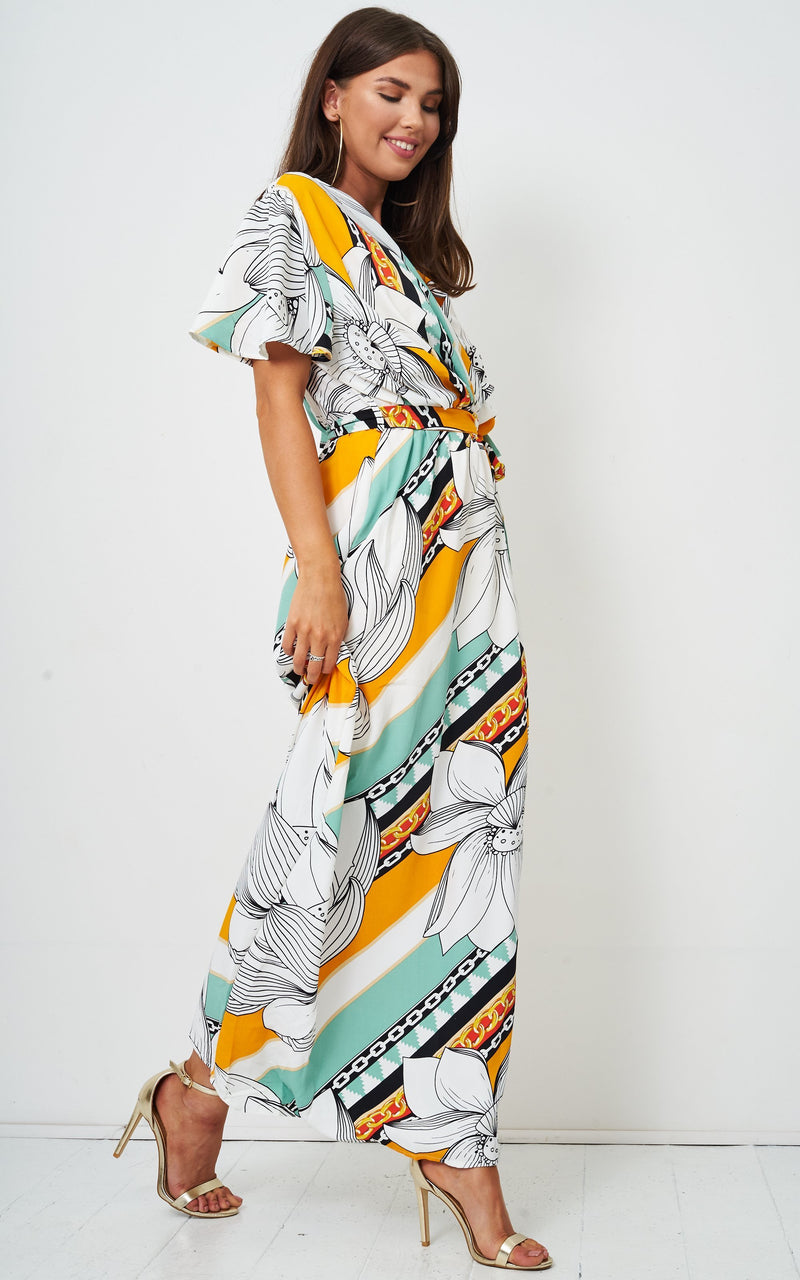 Abigail White Floral Maxi Dress - love frontrow