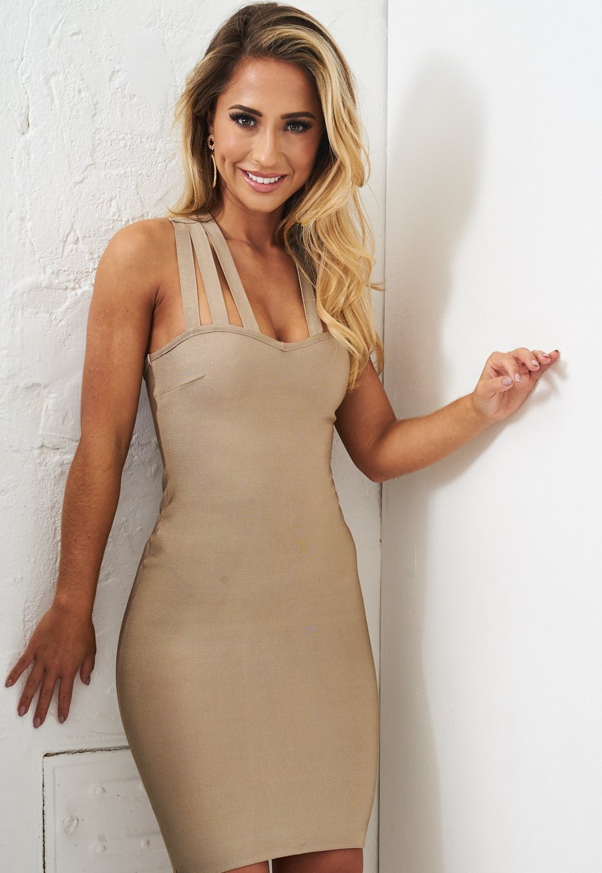 Champagne Nude Bandage Dress - love frontrow