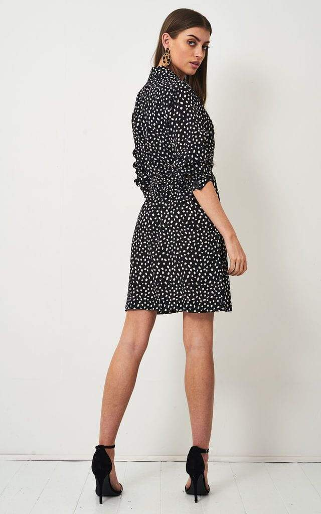 Jayne Black Animal Print Dress - love frontrow