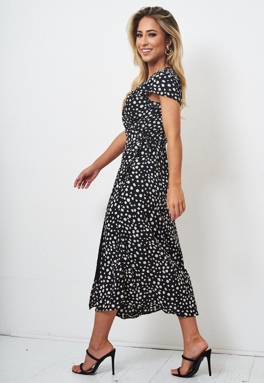 Midi Leopard Wrap Dress - love frontrow