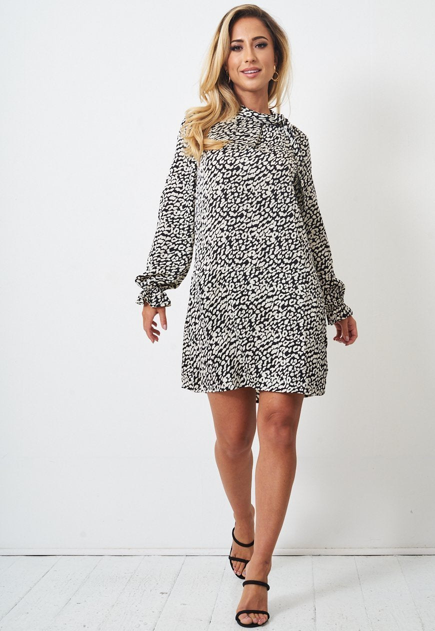 Cream Leopard Print Dress - love frontrow