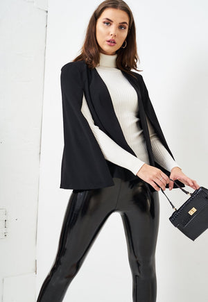 Black Cape Blazer - love frontrow