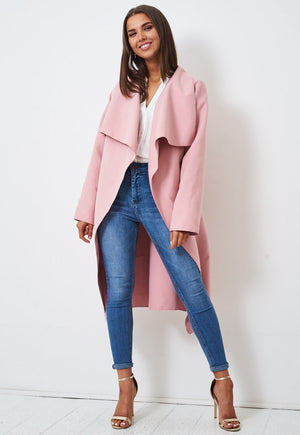 Baby Pink Waterfall Coat - love frontrow