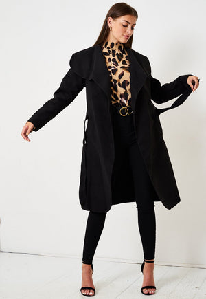 Black Waterfall Coat - love frontrow