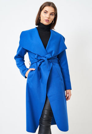 Blue Waterfall Coat - love frontrow