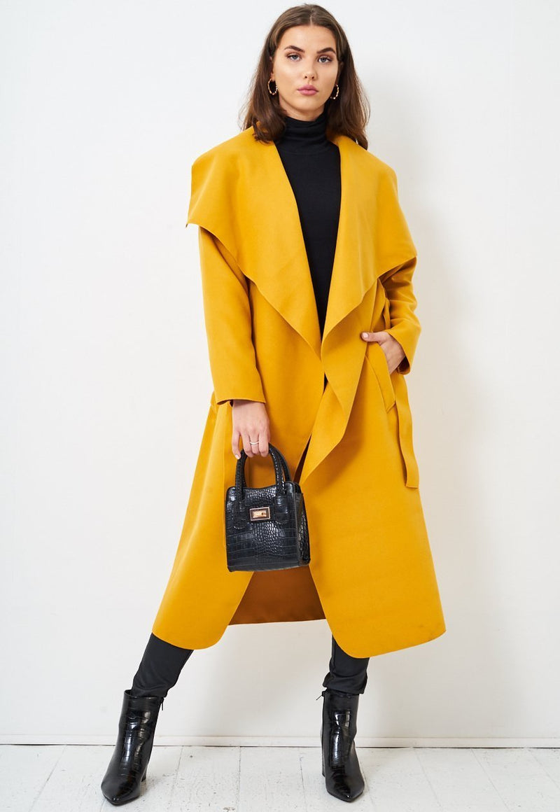 Mustard Waterfall Coat - love frontrow