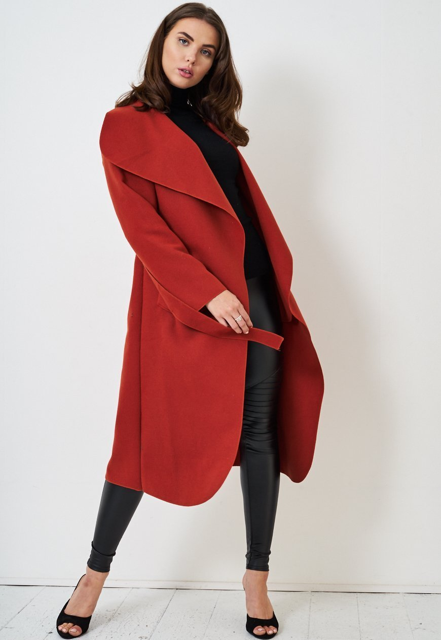 Rust Waterfall Coat - love frontrow