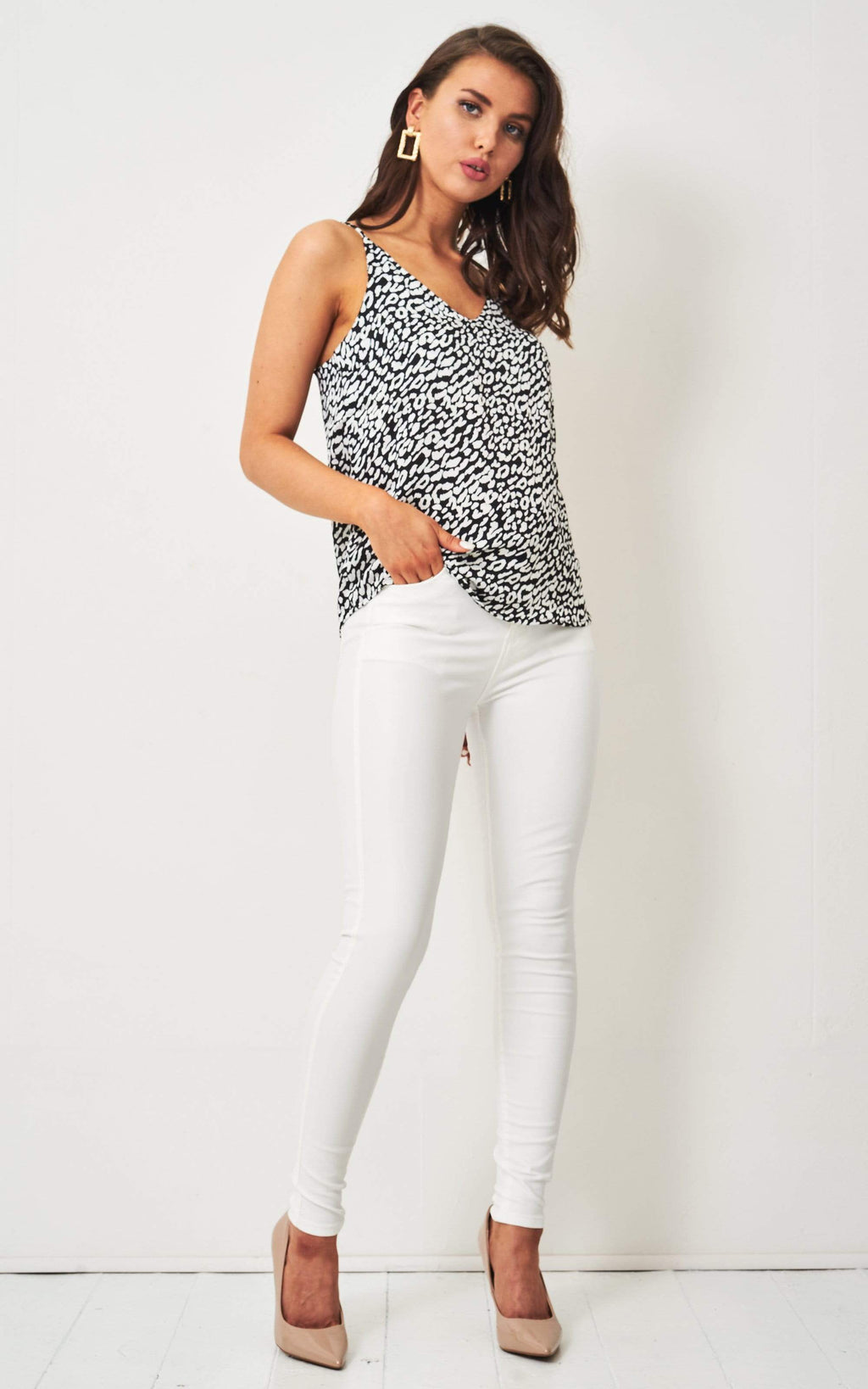 Morgan White Wax Coated Jeans - love frontrow
