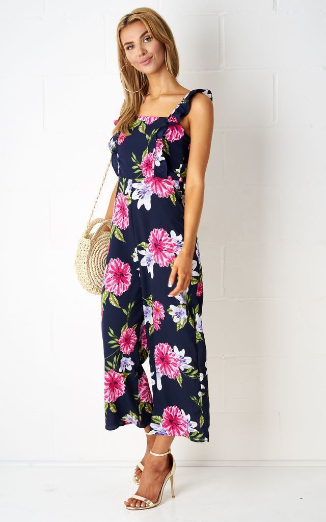 Fiyona Culotte Floral Jumpsuit - love frontrow