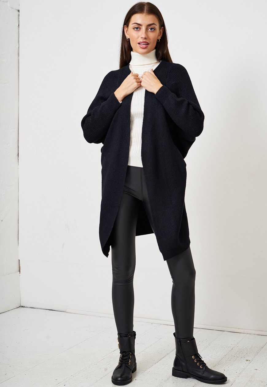Black Batwing Cardigan - love frontrow