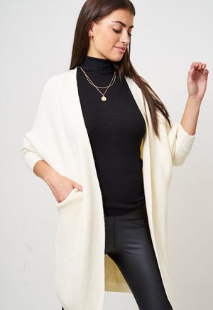 Cream Batwing Cardigan - love frontrow