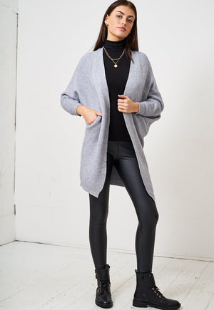 Grey Batwing Cardigan - love frontrow