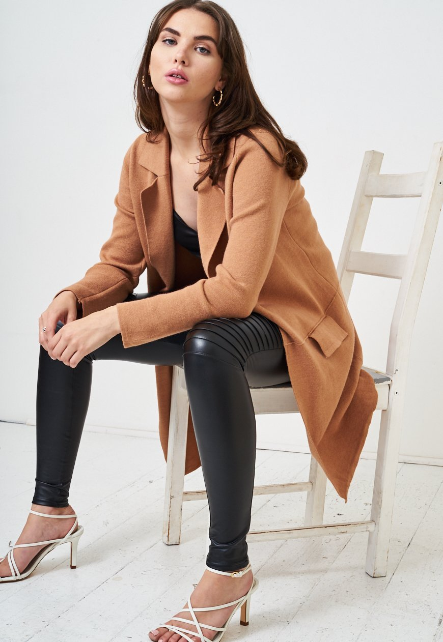 Camel Open Soft Knit Cardigan - love frontrow