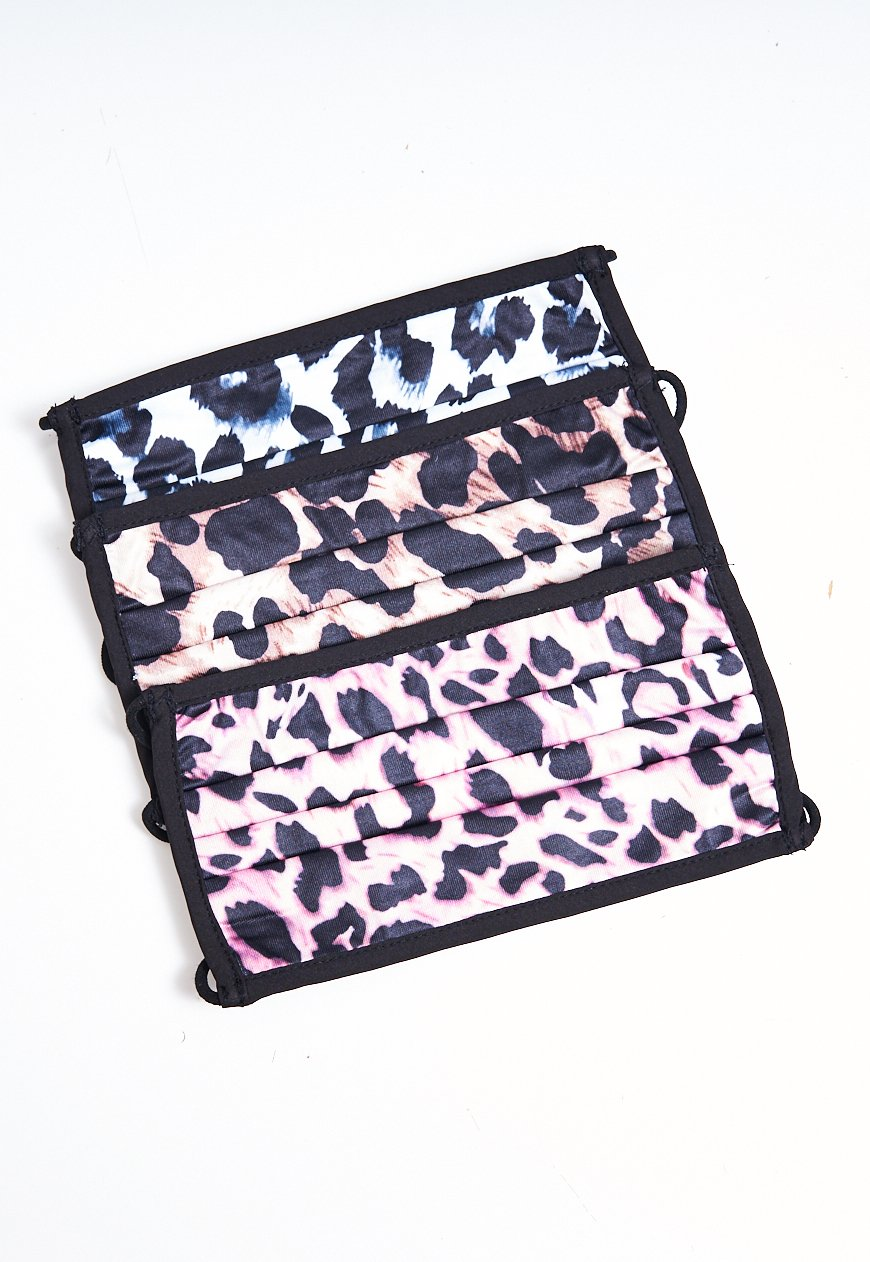 3 Pack Leopard Print Face Masks - love frontrow