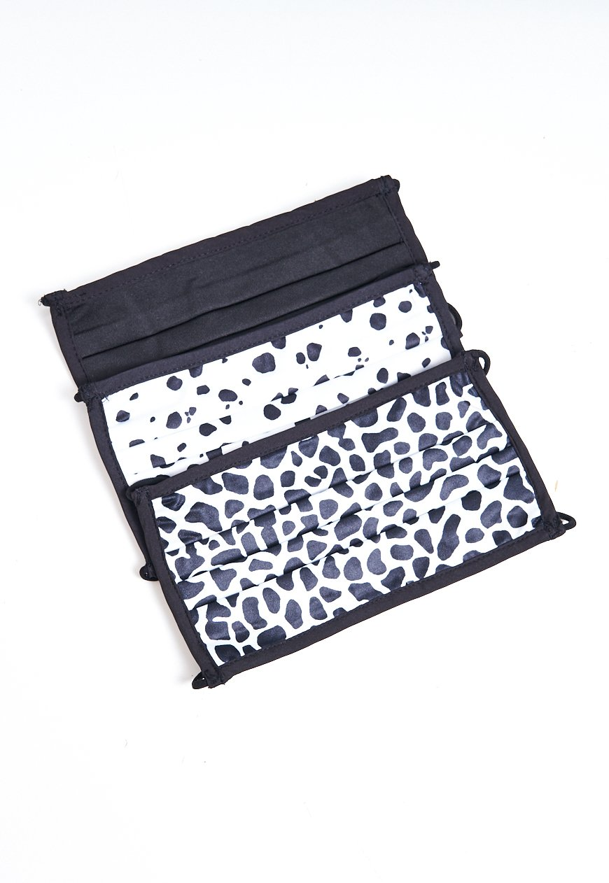 3 Pack Leopard Print Monochrome Face Masks - love frontrow