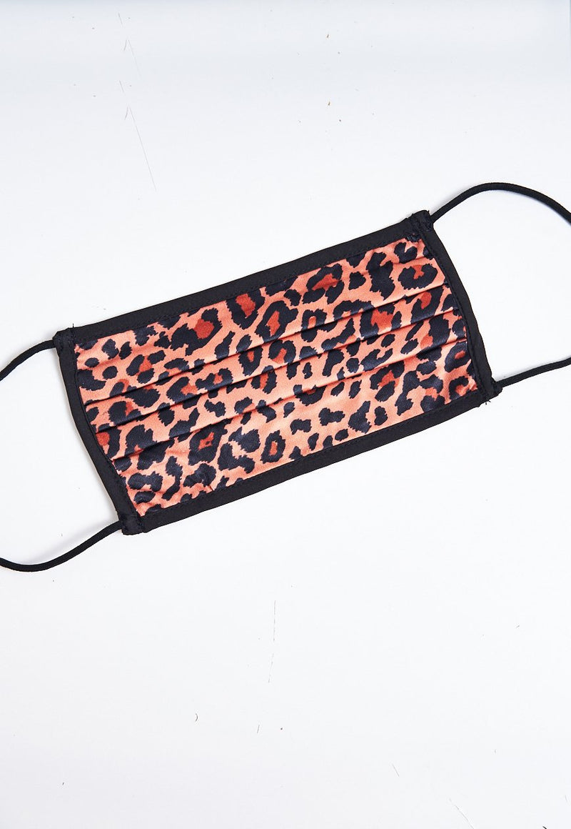Brown Small Leopard Print Face Mask - love frontrow