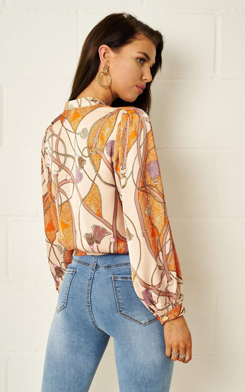 Lucinda Scarf Print Blouse - love frontrow