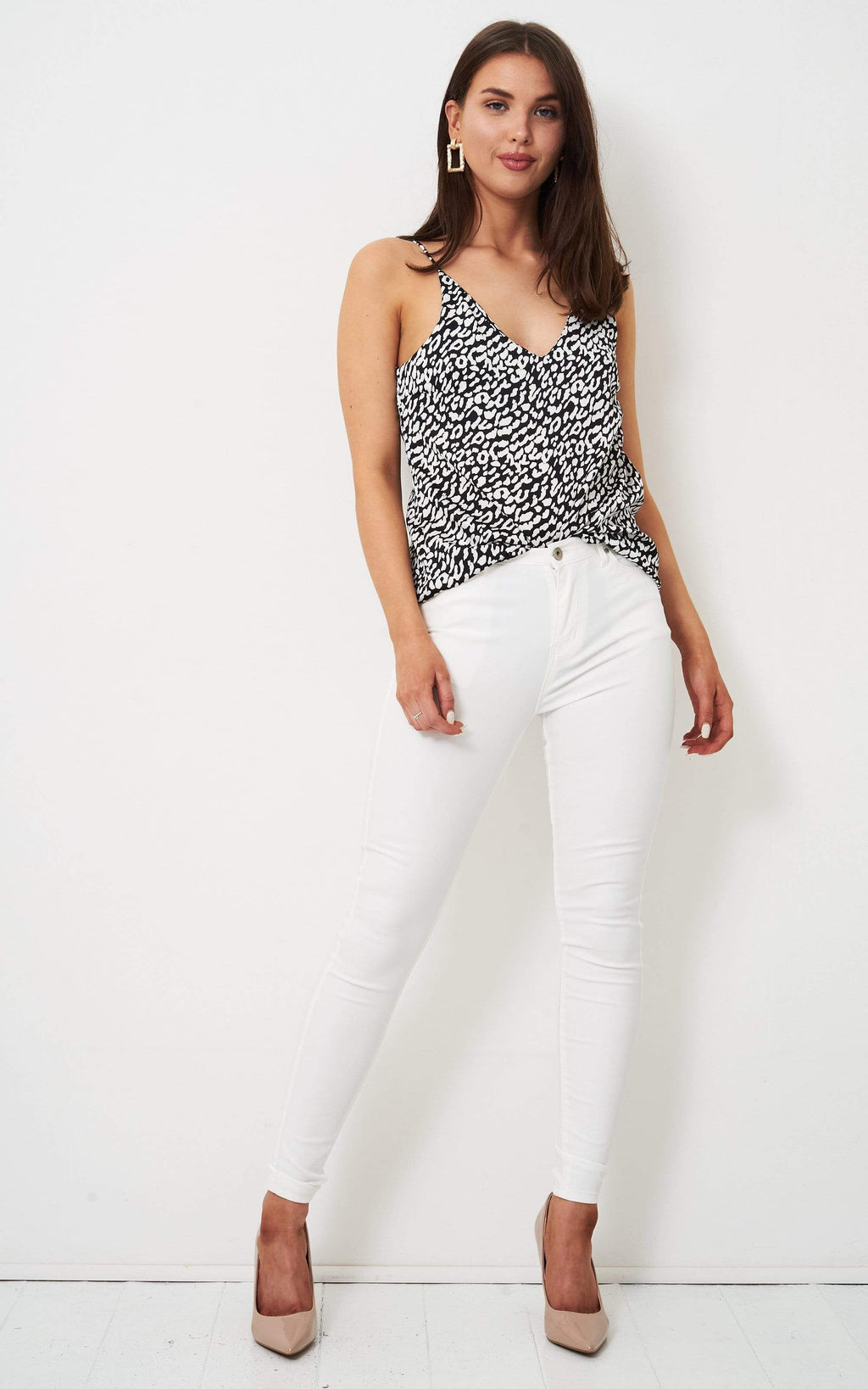 Lyla Cream Leopard Print Cami Top - love frontrow